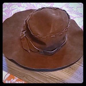 Leather Floppy Hat